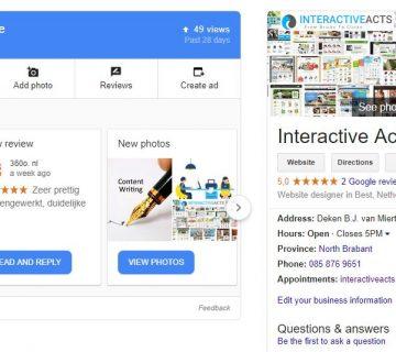 Tekstschrijver Best Interactive Acts Wilma Vervoort Google My Business