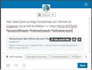 Tekstschrijver-Best-Wilma-Vervoort-Correspondent-Eindhovens-Dagblad-LinkedIn Blog 1